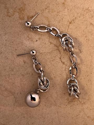 Серьги Ребранда, серебряный цвет