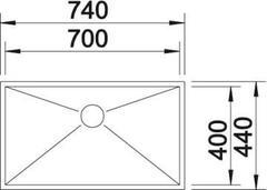 Мойка Blanco Zerox 700-IF схема