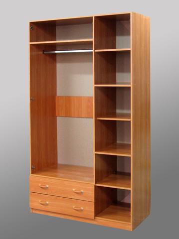 Шкаф 3-дверный с ящиками