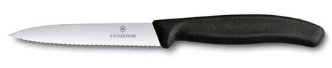 Нож для овощей SwissClassic 10 см чёрный с серейторной заточкой VICTORINOX 6.7733
