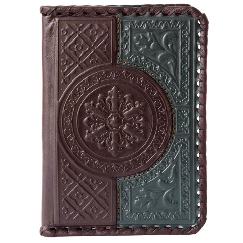 Обложка на паспорт «Венеция». Цвет коричнево-зеленый