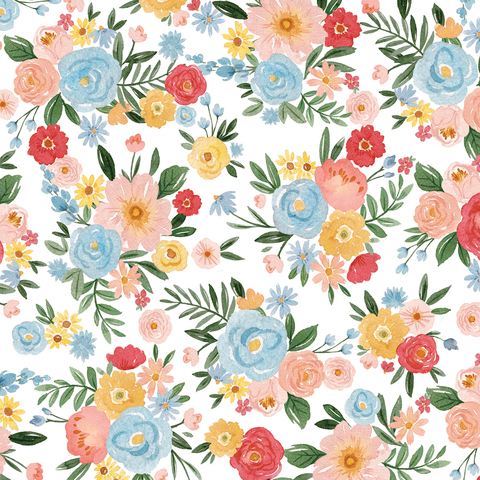 Лист двухсторонней бумаги Carta Bella - SUMMER - Summer Day Floral - 30x30