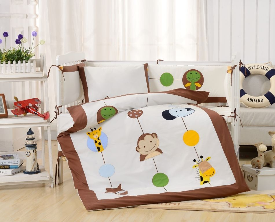 Постельное белье  в детскую кроватку Комплект постельного белья  в кроватку с бортиком ТМ Вальтери Россия DK-26 dk-26.jpg