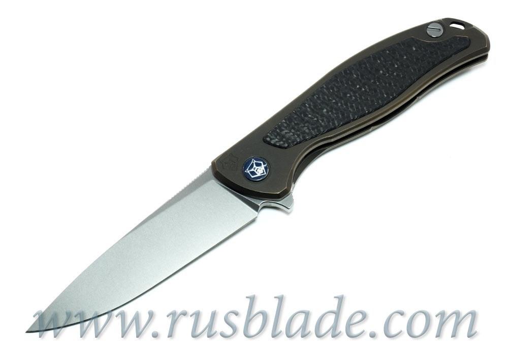 Shirogorov Flipper 95 M390 FS RARE Bronze Anodized - фотография