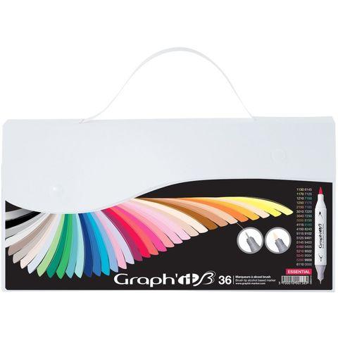 Набор маркеров GRAPH'IT Brush 36шт Основные цвета