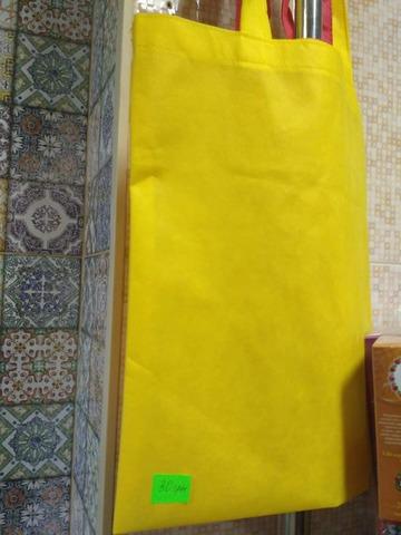 Эко сумка желтая/красная шт.