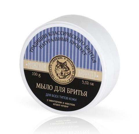 Высокопенное мыло для классического бритья с ментолом и маслом иланг-иланг