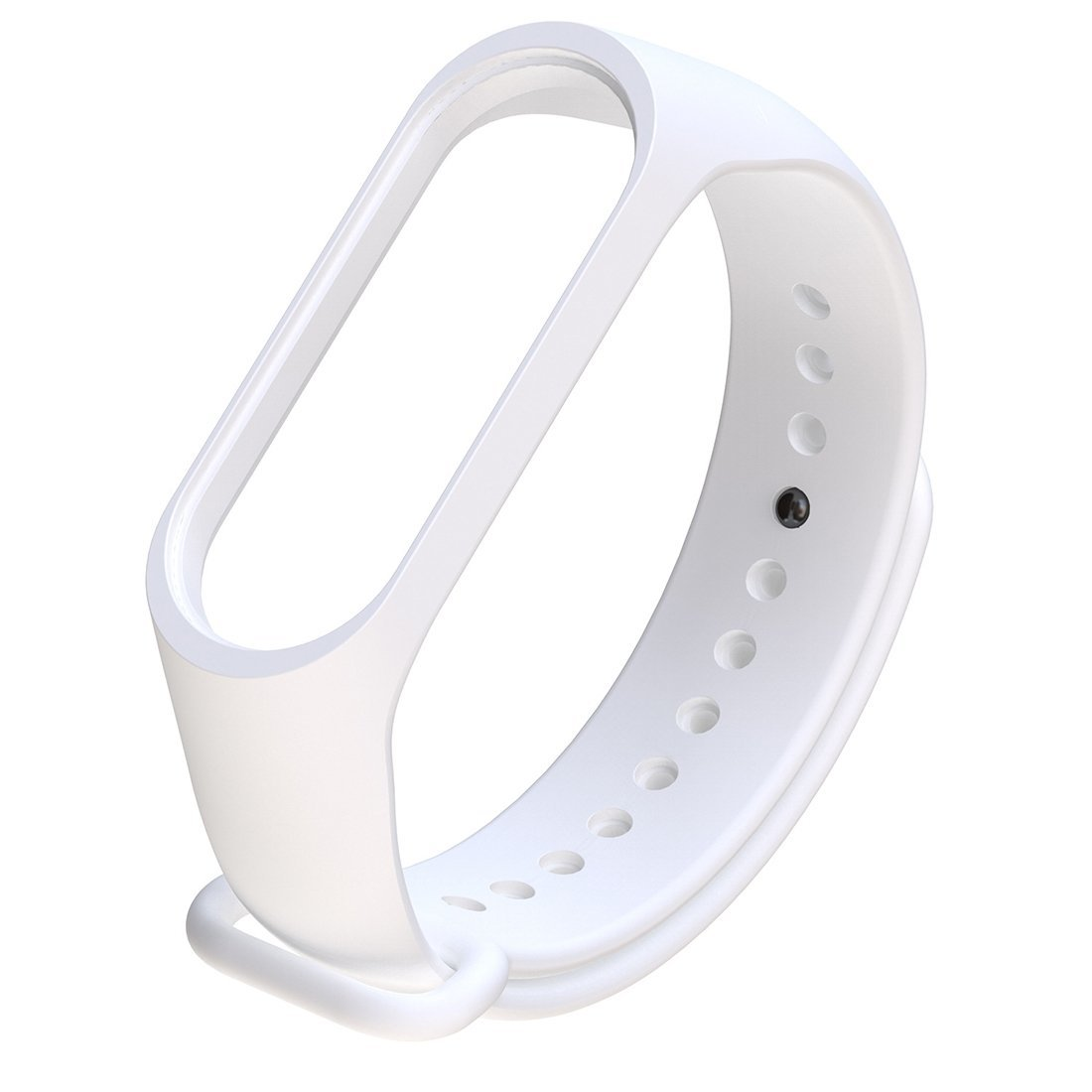 Силиконовый ремешок для Xiaomi Mi Band 3 (белый)