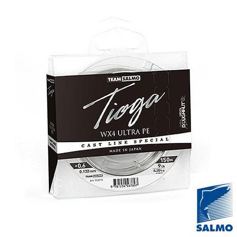 Плетеный шнур Team SALMO Tioga Silver Grey 150m – 0,24
