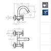 Смеситель для ванны с изливом RS-CROSS 6205S - фото №2