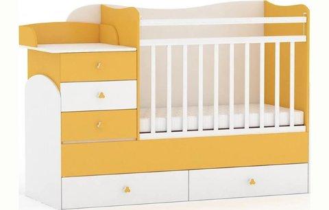 Кровать детская Фея 1400 белый-солнечный