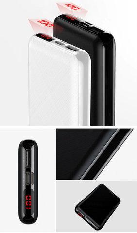 Baseus / Внешний аккумулятор 10000 mAh Mini | черный