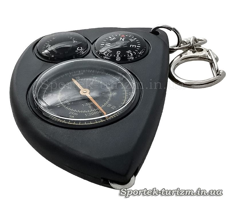 Компас с курвиметром и термометром на брелке (LX-2)