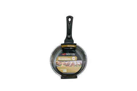 Сковорода Gochu Ecoramic 20 см СТАНДАРТ с каменным покрытием для индукционных плит, без крышки