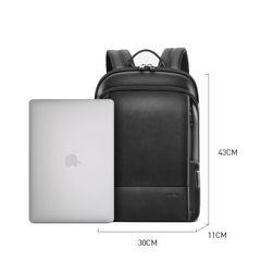 Рюкзак для ноутбука BOPAI 61-52711 нат.кожа черный