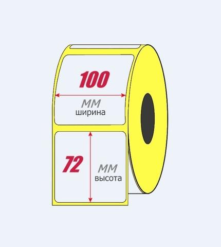 Термоэтикетка 100x72 мм ЭКО (1 рулон = 500 шт) втулка 40 мм