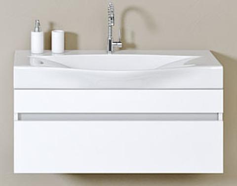 Тумба с умывальником Aqwella Bergamo 100 цвет белый Ber.01.10/W