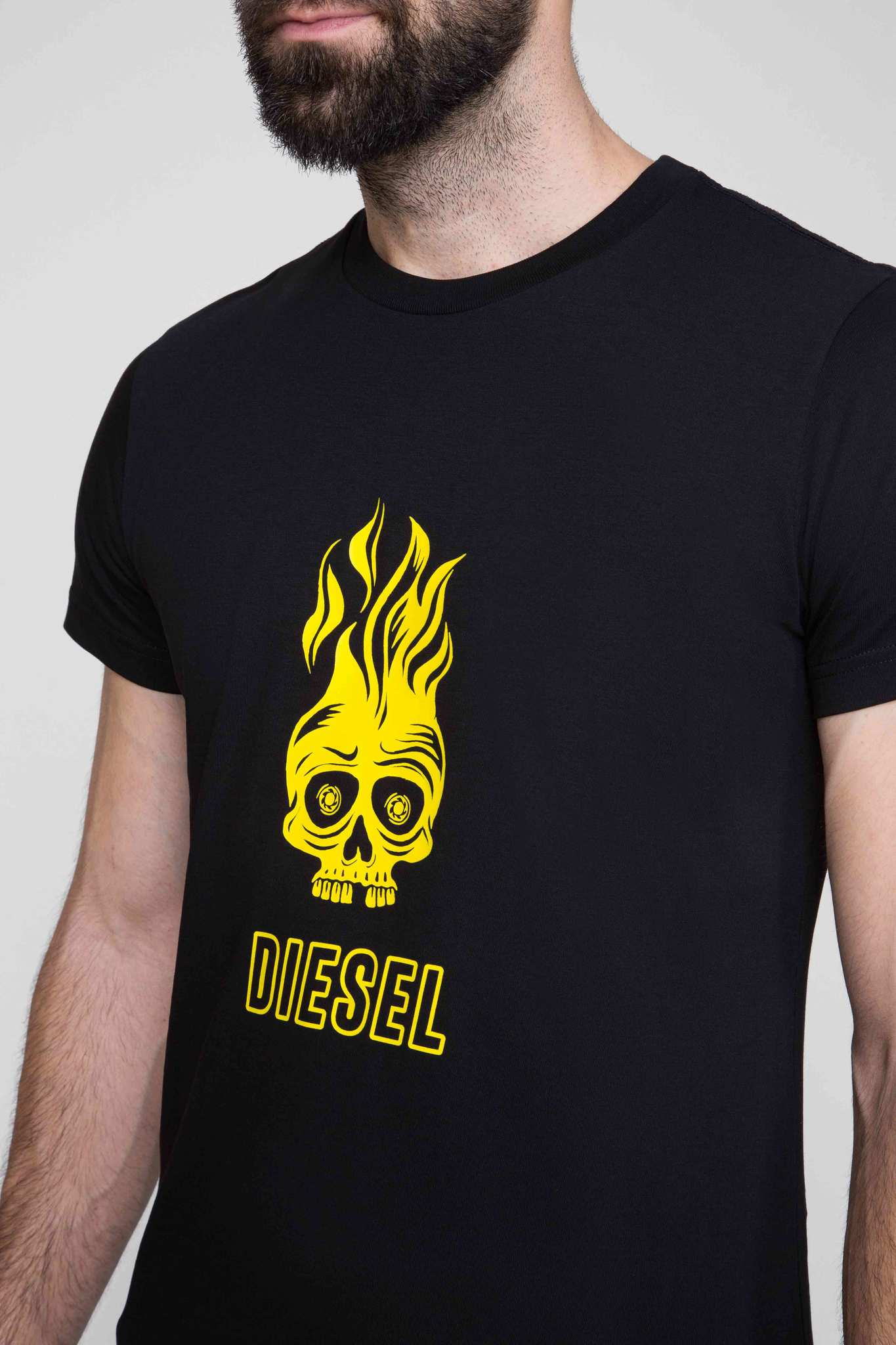 Мужская черная футболка T-DIEGO-A11 MAGLIETTA Diesel