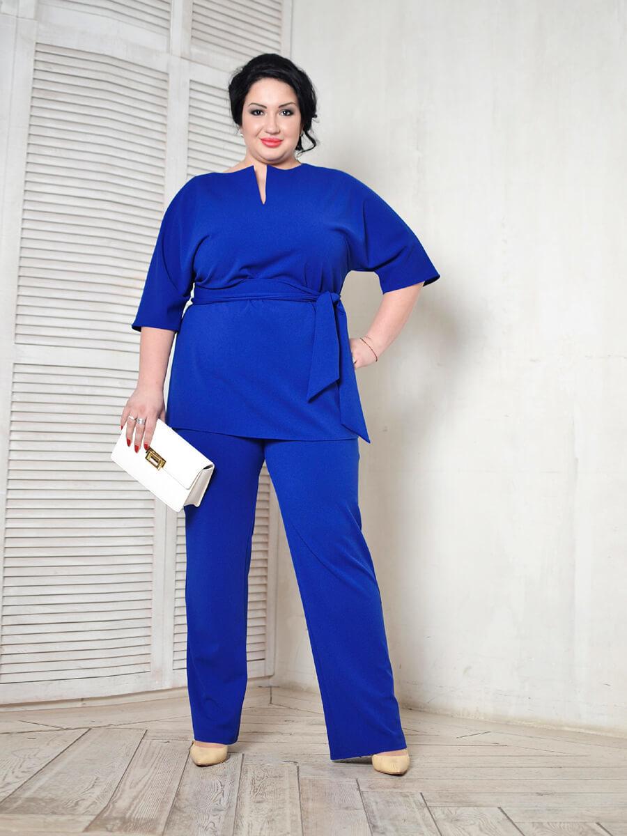 Синие брюки большого размера