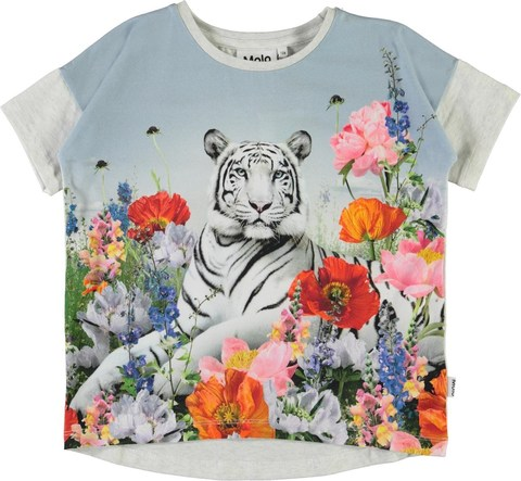 Molo Raeesa Flower Tiger футболка для девочки