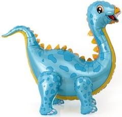 К Ходячая Фигура, Динозавр Стегозавр, Голубой,  39''/99 см, 1 шт.