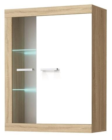 Шкаф-витрина СОНАТА ВНС-800 сонома / белый глянец