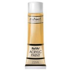 Акриловая краска RuNail золотая 22мл