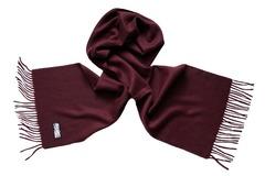 Шерстяной шарф, мужской бордовый темный 17000