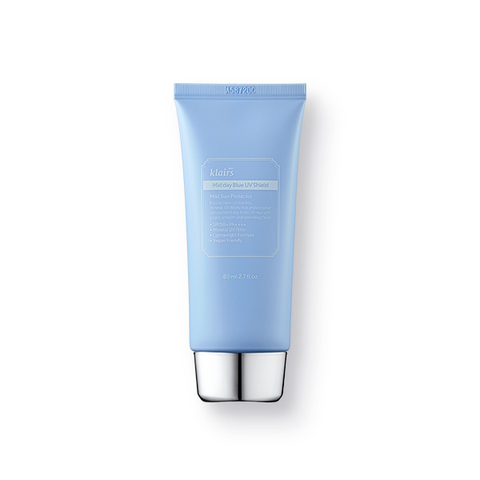 Солнцезащитный лёгкий крем с физ.фильтрами и гвайазуленом SPF 50/PA++++, 80 мл / Klairs Midday Blue UV Shield