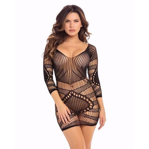 Красивое платье из трендовой сетки