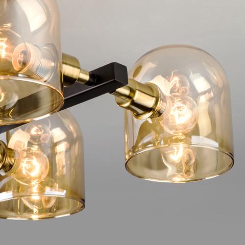 Потолочная люстра в стиле лофт 70103/6 бронза/черный