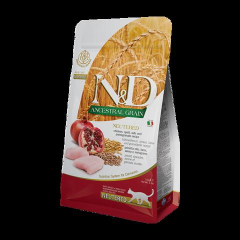 Farmina Ancestral Grain Neutered Chicken & Pomegranate Сухой корм для стерилизованных кошек и кастрированных котов с Kурицей и гранатом