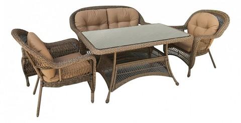 Комплект мебели (иск. ротанг)