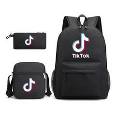 Рюкзак с принтом TikTok (набор 3 в 1)
