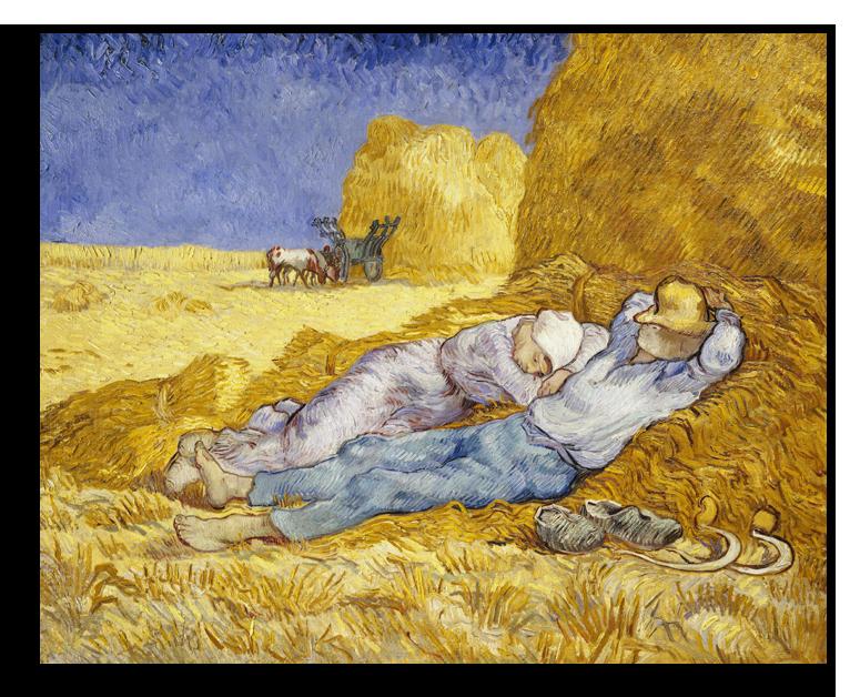 """Ван Гог Репродукция """"Ван Гог - Полдень: отдых от работы (по Милле)"""" Х49.png"""