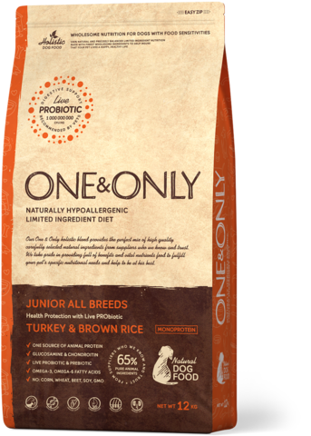 Сухой корм One&Only Turkey & Brown Rice Junior All Breeds