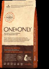 Сухой корм One&Only Turkey & Brown Rice Junior All Breeds