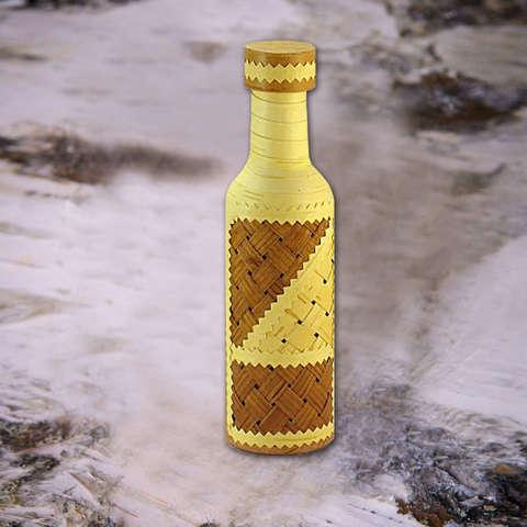 Бутылка оплетённая берестой, 0,25л