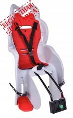 Велокресло для детей HTP SANBAS T (белое), крепление к подседельной трубе