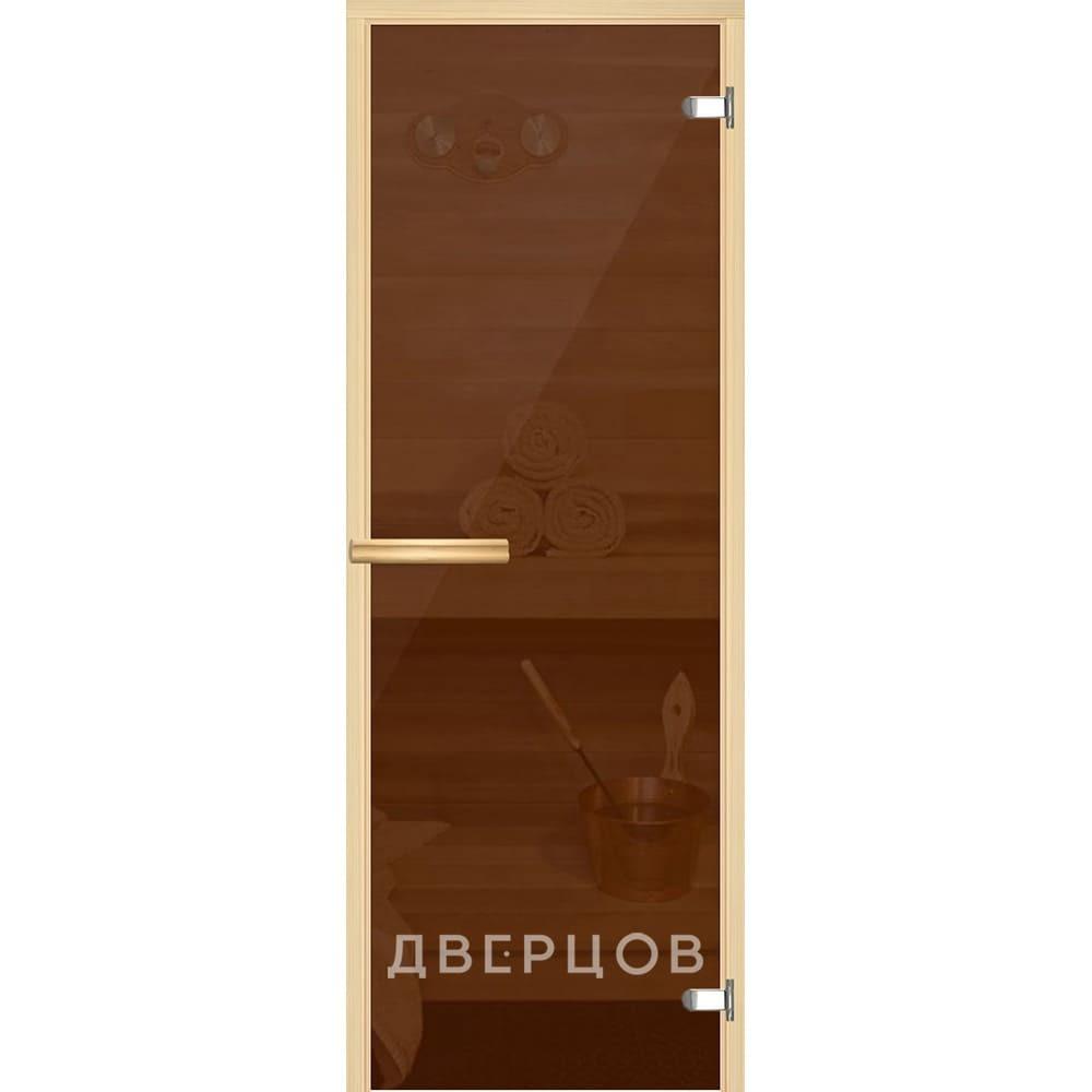 Двери для бани и сауны Дверь для сауны бронзовая ручка магнит АКМА_Light_Бронза_715_олив.jpg