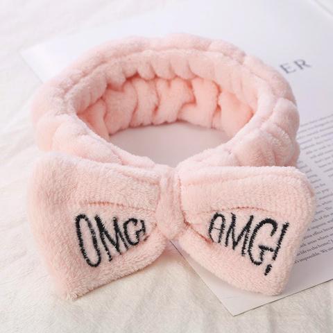 Повязка для волос OMG, персиковая