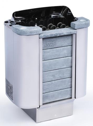Электрическая печь SAWO CUMULUS CML-80NI2-P (8,0 кВт, выносной пульт, нержавейка, встроенный блок мощности, облицовка – талькохлорит)