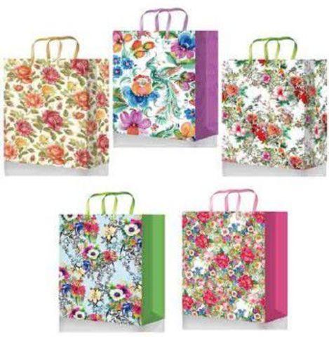 Подарочные пакеты бумажные с ручками 22х31х10 ламинированный Premium
