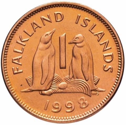 1 пенни. Фолклендские острова. 1998 год. XF-AU