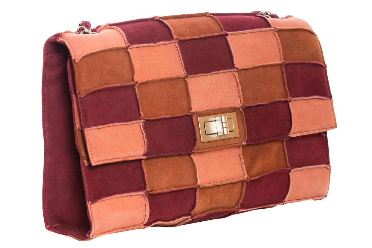 Chanel Patchwork Suede Handbag