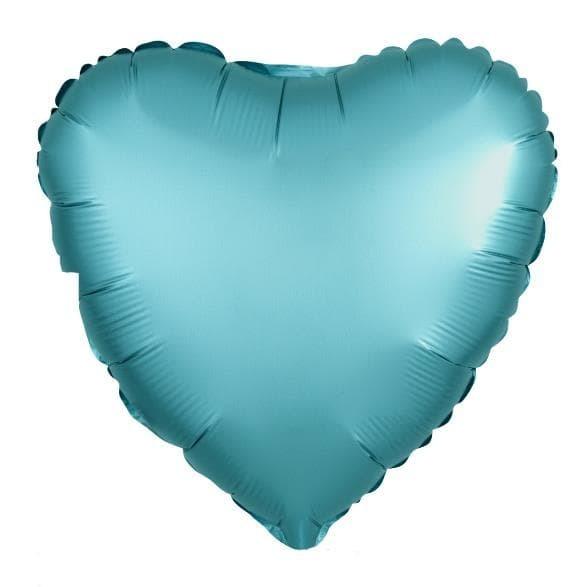 Фольгированный воздушный шар сердце, тиффани сатин, 46 см