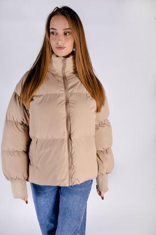 Бежевая куртка женская дутая Nadya