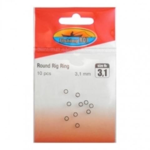 Микро-кольца крючковые Fishing ROI Round Rig Ring d-3.1mm