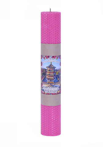 Свеча Императорский дворец розовая 30см