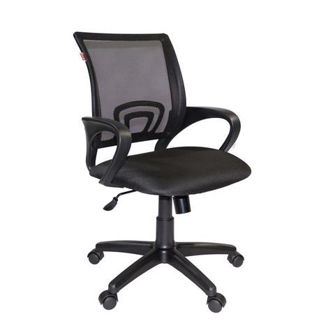 Кресло офисное Easy Chair 304 черное (ткань/сетка/пластик)